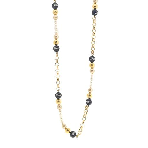 D&G Pearl and Bead Necklace