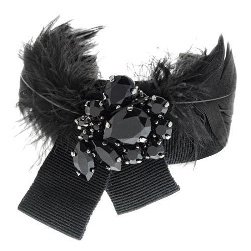 D&G Ribbon and Swarovski Crystal Glam Cuff Bracelet