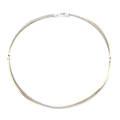David Yurman 18K Gold & Sterling Silver Link Necklace