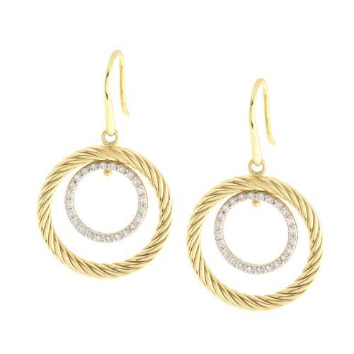 David Yurman 18k Gold Pave Diamond Mobile Earrings
