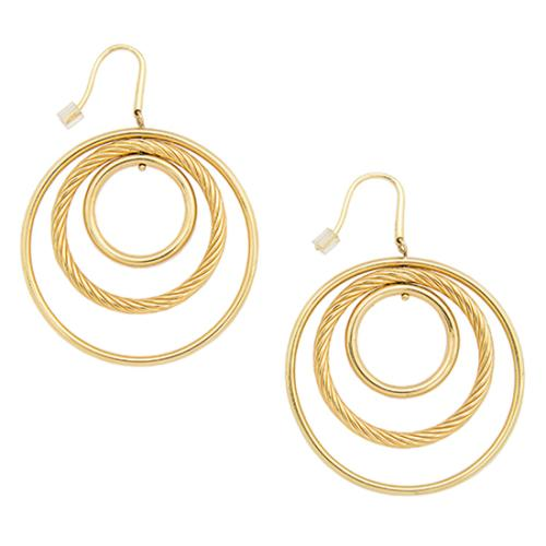 David Yurman 18kt Yellow Gold Mobile Spiral Hoops