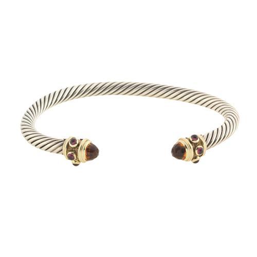 David Yurman 5mm Citrine & Garnet Renaissance Bracelet