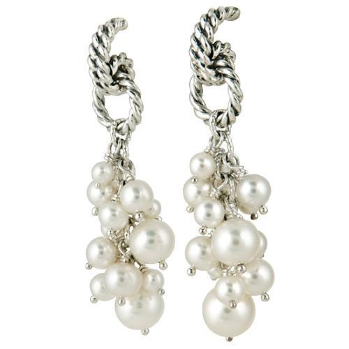David Yurman Copella Pearl Cluster Earrings