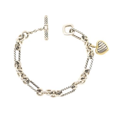 David Yurman Heart Charm Bracelet