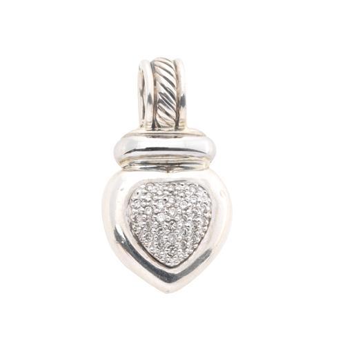 David Yurman Pave Diamond Heart Enhancer