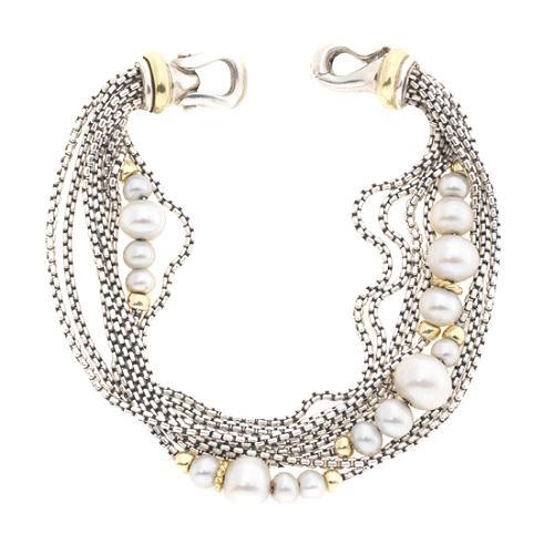 David Yurman Pearl Multi Strand Bracelet