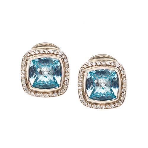 David Yurman Petite Albion Aquamarine Earrings
