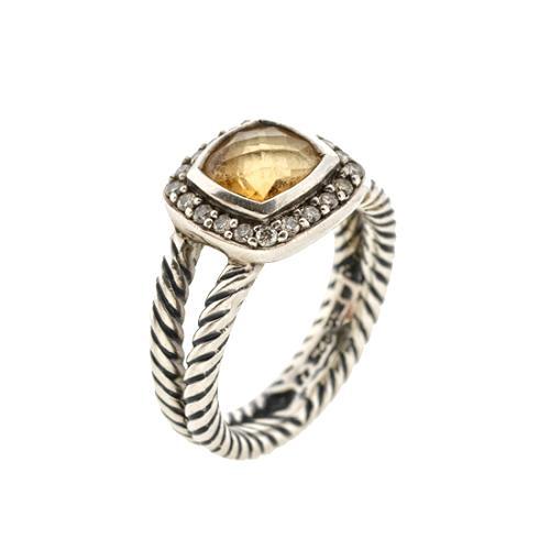 David Yurman Petite Albion Citrine Ring