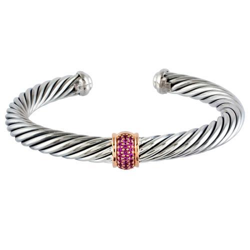 David Yurman Pink Sapphire Cuff Bracelet