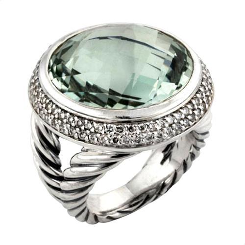 David Yurman Prasiolite Cerise Ring