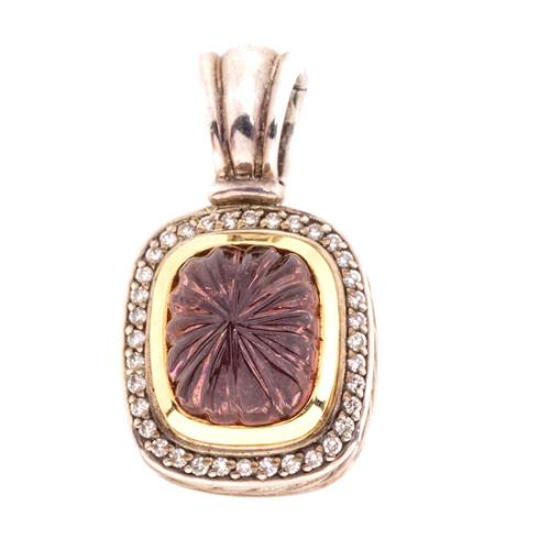 David Yurman Quartz and Diamond Enhancer Pendant