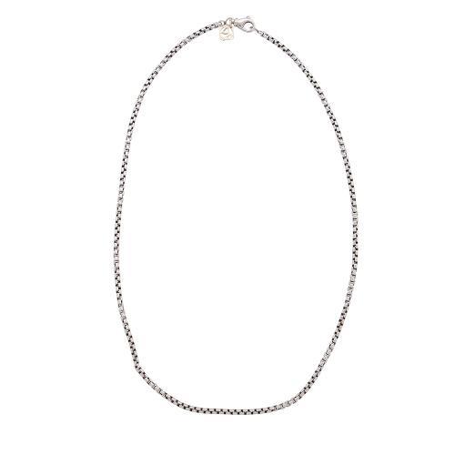 David Yurman Sterling Silver 14kt Yellow Gold Box Chain Necklace
