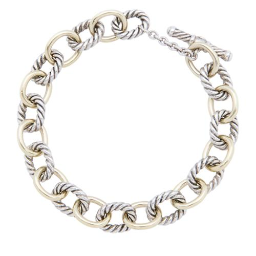 03a4ecbba35 David-Yurman-Sterling-Silver-18kt-Yellow-Gold-Oval-Link -Toggle-Bracelet_97304_front_large_0.jpg