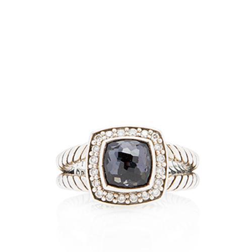 David Yurman Sterling Silver Black Orchid Petite Albion Ring - Size 5