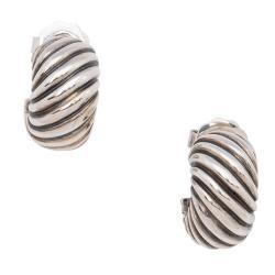 David Yurman Sterling Silver Cable Classic Hoop Earrings