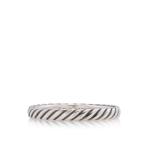 David Yurman Sterling Silver Cable Collectibles Ring - Size 7 1/2