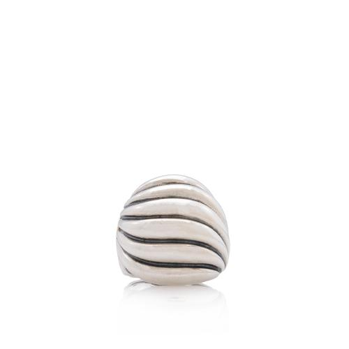 David Yurman Sterling Silver Cable Dome Ring - Size 7 1/2