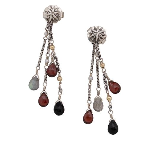 David Yurman Sterling Silver Confetti Dangle Earrings