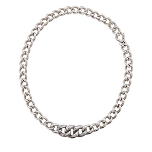 David Yurman Sterling Silver Curb Link Chain Necklace