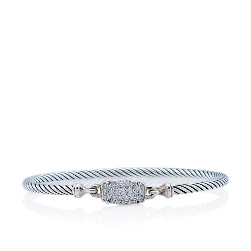 David Yurman Sterling Silver Diamond Wheaton Bracelet