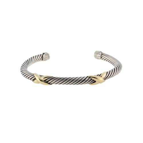 David Yurman Sterling Silver Double X 5mm Cable Bracelet