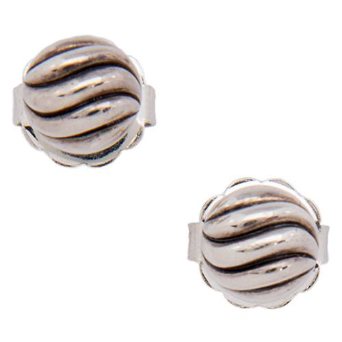 David Yurman Sterling Silver Sculpted Cable Stud Earrings
