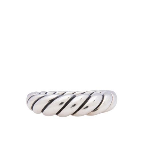 David Yurman Terling Silver Cable Band Ring - Size 6