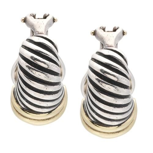 David Yurman Thoroughbred Shrimp Earrings