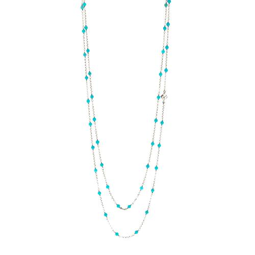 David Yurman Turquoise and Sterling Silver Necklace