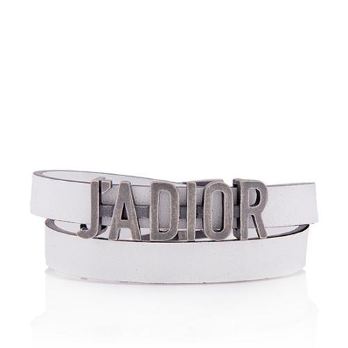 Dior Leather J'Adior Wrap Bracelet