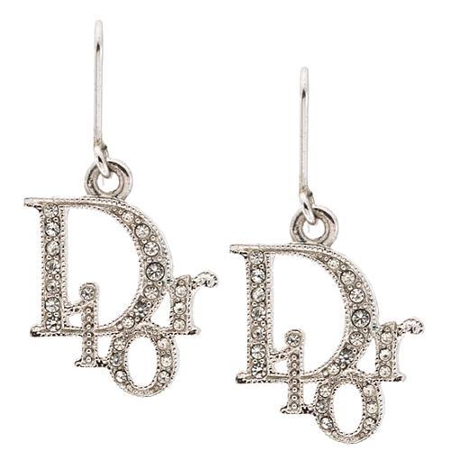 Dior Logo Drop Earrings