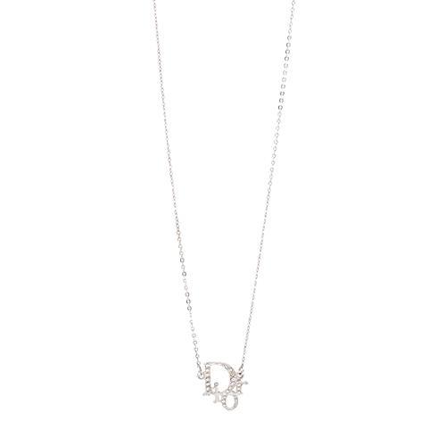 Dior Logo Strass Crystal Necklace