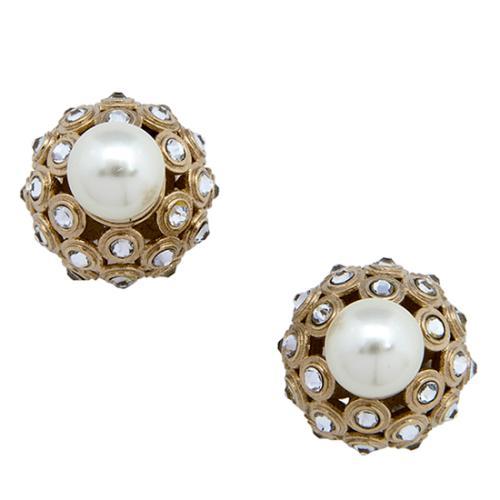 Dior Pearl Crystal Mise En Dior Tribale Earrings