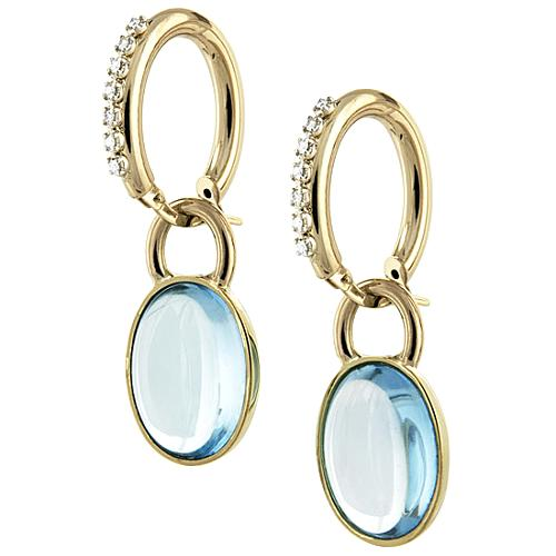 Faraone Mennella by R.F.M.A.S. Diamond and Blue Topaz Earrings