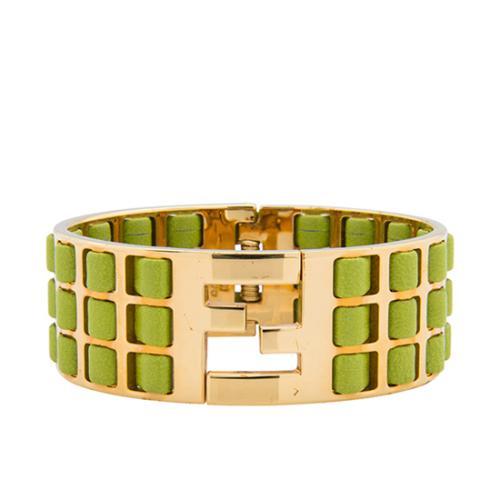 Fendi Leather Fendista Bracelet - FINAL SALE
