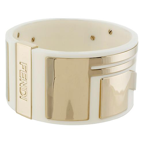Fendi To You Logo Bangle Bracelet