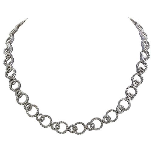 Gabriel & Co. Diamond Circle Collar Necklace