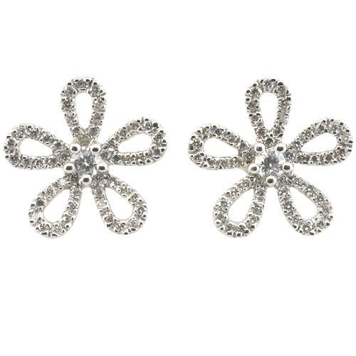 Gabriel & Co. Diamond Flower Stud Earrings