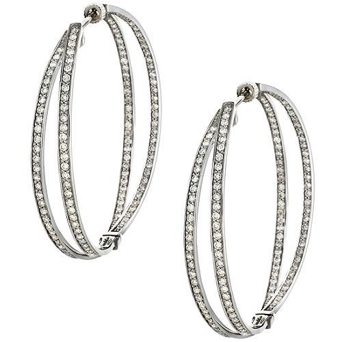 Gabriel & Co. Diamond Hoop Earrings