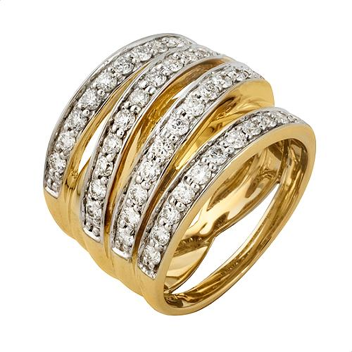 Gabriel & Co. Stacked Diamond Ring