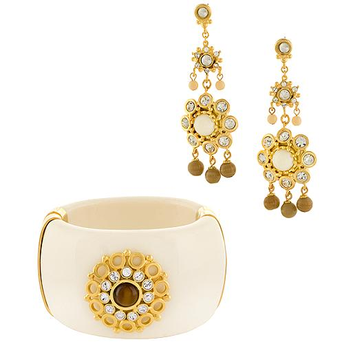 Gerard Yosca Ivory Cuff & Earrings