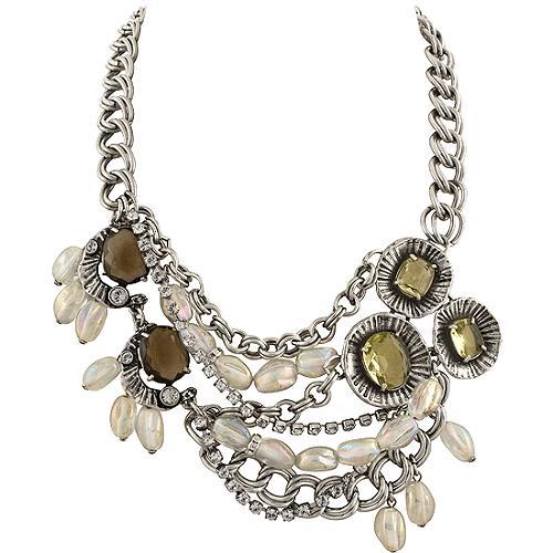 Gerard Yosca Multi Chain Beaded Necklace