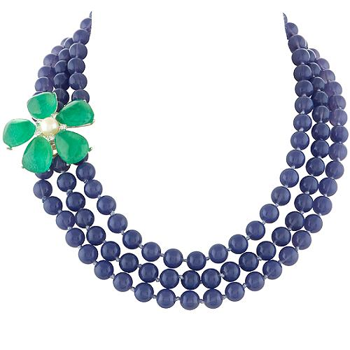 Gerard Yosca Side Flower Necklace