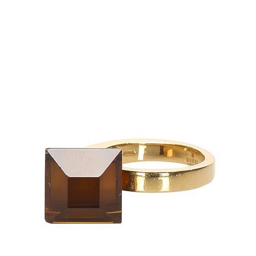 Gucci 18K Onyx Ring - 5 1/2