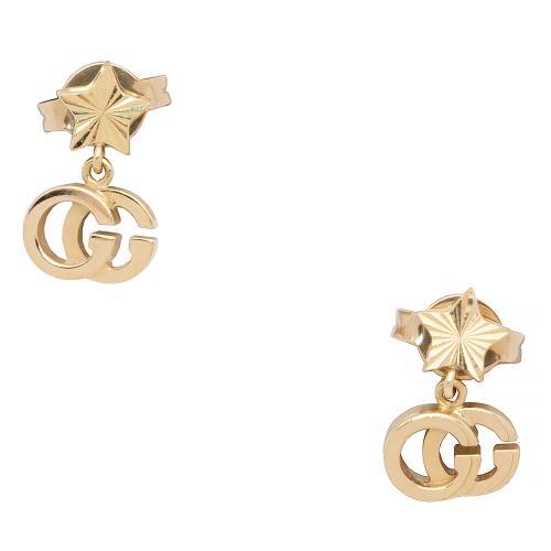 Gucci 18kt Yellow Gold GG Running Earrings