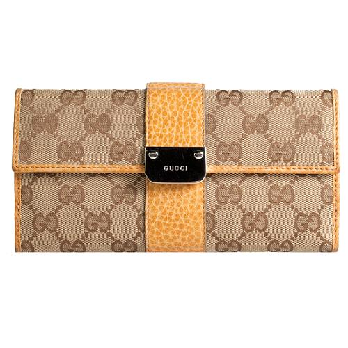 Gucci GG Fabric Continental Wallet