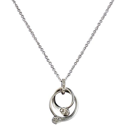 Gucci Horsebit Nail Double Ring Necklace