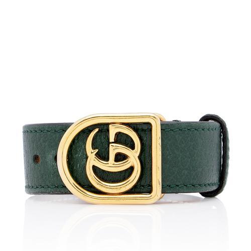 Gucci Leather GG Marmont Bracelet