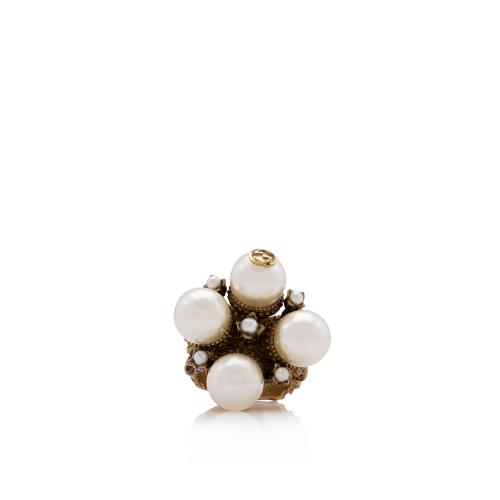 Gucci Pearl Double G Ring - Size 7