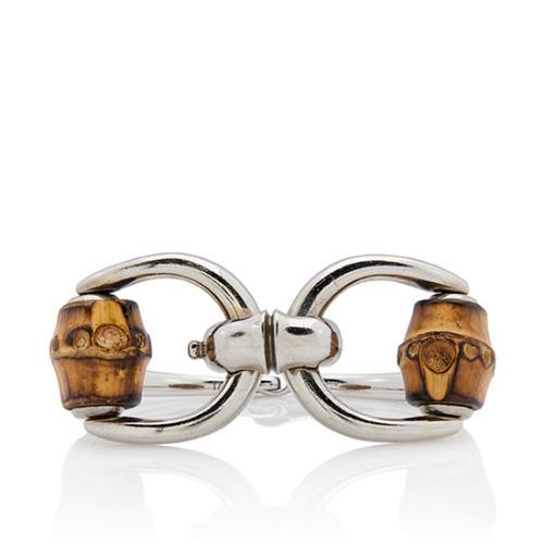 Gucci Sterling Silver Bamboo Horsebit Bracelet